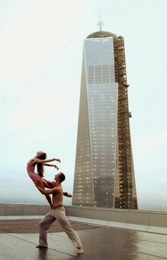 A short and incredibly beautiful film by the New York City Ballet entitled New Beginnings. It was filmed at sunrise on the 57th floor of 4WTC in lower Manhattan.