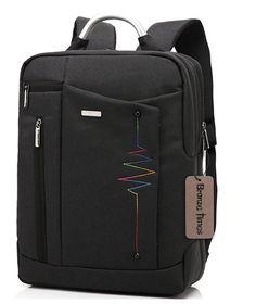 Amazon.com: Bronze Times (TM) Premium Shockproof Canvas Laptop Backpack Travel Bag (Black): Clothing
