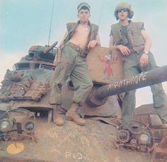 "M48A3 ""Misanthrope"" of the 3rd Platoon, Bravo Company, 3rd Tank Battalion in Camp Carroll. 1968"