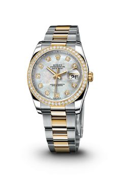 DATEJUST 36 MM ROLEX WATCH: STEEL, YELLOW GOLD AND DIAMONDS Rolex Women, Breitling Watches, Hand Watch, Expensive Watches, Gents Watches, Beautiful Watches, Luxury Watches, Fashion Watches, Jewelry Watches