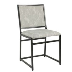 Add industrial style to your space with the HomePop Ikat Dining Side Chair . This dining chair features a black metal frame, and a faded Ikat pattern. Industrial Dining Chairs, Metal Chairs, Side Chairs, Wall Decor, Room Decor, Industrial Style, Industrial Metal, Grey Chair, Extra Seating