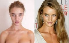 celebs without makeup before and after | ... Huntington-Whitely's famous pucker is present with and without makeup