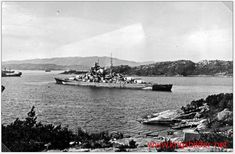 15 in Bismarck in Norway before her fatal North Atlantic foray, May 1941. On the 24th she sank British battlecruiser HMS Hood, on the 27th an avenging Royal Navy sent her to the bottom.