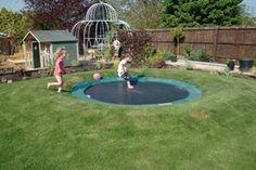 Sunken trampoline?
