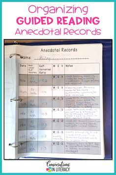 Guided reading notes and anecdotal records templates to track small group student learning. Great organization for teachers in classrooms, reading interventions and special education! This product has so many ideas for organizing information from running records, checklists and reading conferences. #guidedreading #classroom #elementary #classroomorganization #conversationsinliteracy #kindergarten #firstgrade #secondgrade #thirdgrade kindergarten, first grade, second grade, third grade