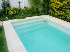 Swimming pools are such a fabulous luxury garden addition, but of you have a small yard, you might not know they are an option for you! Swimming Pool Enclosures, Swimming Pool Tiles, Swimming Pools Backyard, Swimming Pool Designs, Garden Pool, Big Pools, Small Pools, Cool Pools, Outdoor Spa