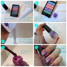 DIY Purple Nail Polish