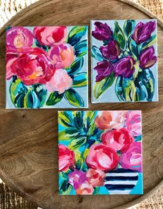 Learn how to paint loose, abstract flowers step by step in these online flower paintint tutorials. DIY your own flowers on canvas in acrylic paint for beginner artists! Easy Flower Painting, Acrylic Painting Flowers, Abstract Flowers, Acrylic Painting Canvas, Painting Flowers Tutorial, Paint Flowers, Painting Abstract, Canvas Painting Tutorials, Painting Lessons