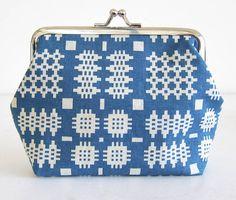 teal welsh blanket purse