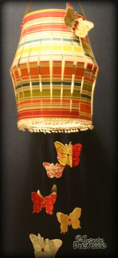 Paper Lantern and butterflies with Cheery Lynn Designs dies.