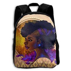 SARA NELL Kids School Backpack African American Women Lady Travel Bag For Preschool  Kindergarten Elementary Boys Girls Student f9d1b93857