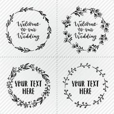 Couronnes de mariage simples