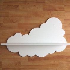 DIY - cloud shelves for a kid's room Deco Pastel, Cloud Shelves, Deco Kids, Rainbow Room, Rainbow Wall, Kid Spaces, Kids Decor, Decor Ideas, Kids Bedroom