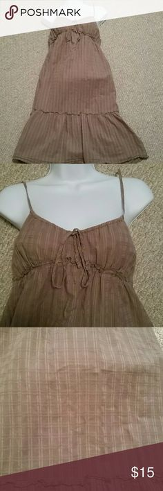 Gap Jeans Limited Edition Summer Dress Gap Jeans Limited Edition Tan/Light Brown Summer Dress, size 8, straps are not adjustable. Small side zipper. Gap Jeans Limit Edition Dresses