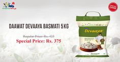 Order Daawat Devaaya Basmati Rice 5kg online at lowest price in India from Kiraanastore. Avail more exciting offers on grocery store. Order Now!