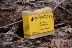 Lemon & Sage GOAT MILK SOAP  All Natural by HopeFloatsFarm on Etsy