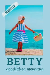 It's a sweetly vintage nickname name, but there's something sparky AND substantial about Betty, too. #girlnames #babynames #namingbaby #appellationmountain