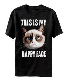 Grumpy Cat 'This Is My Happy Face' Tee - Men's Regular by Grumpy Cat #zulily #zulilyfinds