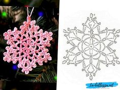 Crochet Snowflake Pattern, Crochet Stars, Crochet Snowflakes, Crochet Doilies, Crochet Patterns, Crochet Home, Crochet Baby, Christmas Baby, Xmas