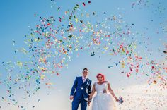 A UK rainbow seaside wedding by alternative documentary wedding photographer Babb Photo.  See more here: http://www.babbphoto.com