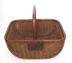 Vintage Gathering Basket Home & Garden Decor by OceansideCastle, $146.00