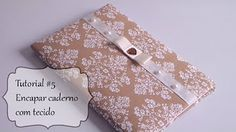 Caderno com forração em tecido - YouTube