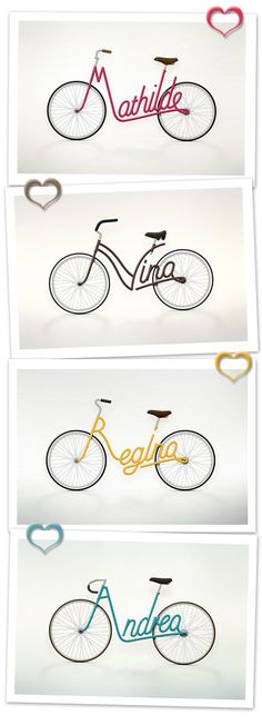 Your name on a bicycle anyone?