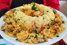 Κοτόπουλο a la cream parma Parma, Fried Rice, Fries, Chicken Recipes, Food And Drink, Cream, Ethnic Recipes, Youtube, Greek Recipes
