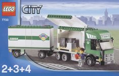 LEGO 7733 Truck and Forklift instructions displayed page by page to help you build this amazing LEGO City set Micro Lego, All Lego, Lego Projects, Lego Instructions, Semi Trucks, Lego City, Legos, Lego Vehicles, Atticus