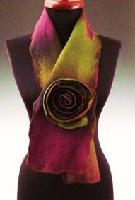 scarf with rose