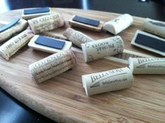 wine cork project magnet...make magnets for gifts...maybe not always wine corks