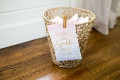 Clip a sachet to your waste basket