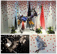 LES VITRINES DE NOEL - DE BIJENKORF à AMSTERDAM - JOHN LEWIS LONDON. http://www.plumevoyage.fr/magazine/voyage/luxe/une-halte-voyage-imaginaire-vitrines-de-noel-london-paris-stockholm-nyc/