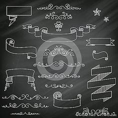 Chalkboard Elements by Ramona Kaulitzki, via Dreamstime
