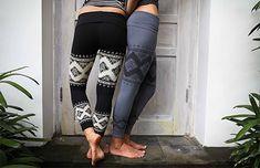 Women's Yoga Pants  BLACK  Cloud Lace Leggings  by ShenCreations