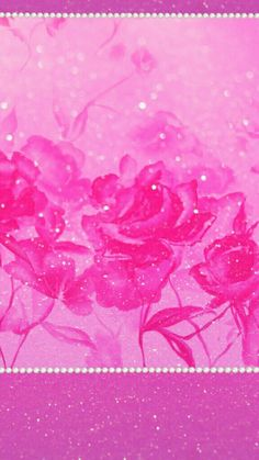 By Artist Niki. Pretty Backgrounds, Pretty Wallpapers, Wallpaper Backgrounds, Iphone Wallpaper, Beautiful Wallpaper, Glitter Lipstick, Glitter Roses, Glitter Fabric, Pink Glitter