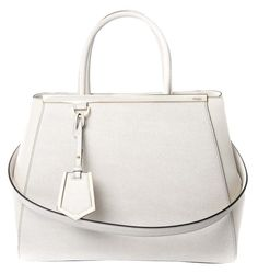 c9a19d0155 Fendi Regular 2jours Leather White Tote Bag. Get one of the hottest styles  of the