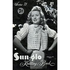 1940s Knitting Patterns Dressing Bed Jackets by BessieAndMaive, $12.00