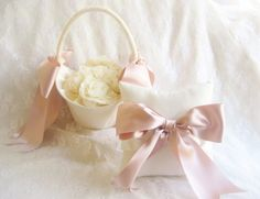 Excited to share the latest addition to my #etsy shop: Large Flower Girl Basket Rose Gold Ribbon Extra Large Hurricane Basket Ivory or White Basket with choice of ribbon colors #weddings #rosegold #flowergirlbasket #flowergirlset #flowergirl #ivoryflowergirl #blushflowergirl #blushwedding