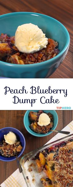 Here's a recipe for a super simple, super delicious, fruit filled dessert that's sure to please. And it comes together so quickly you can spend more time enjoying the precious days of summer!  Click for the video and recipe and whip up your own peach blueberry dump cake!