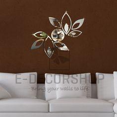 rings spiegel wanduhr - wall clock mirror for modern home design ...