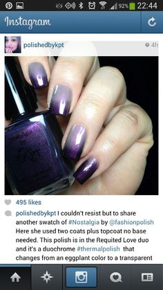 Beautiful Purple ombre nails
