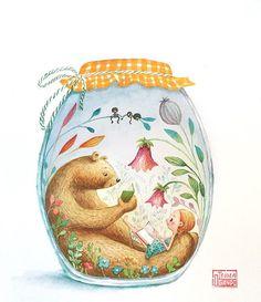 9/15/2017 brown bear storybook in a jar