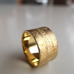 "Jan Suchodolski  /  Wedding Ring with text of song:""What a wonderful world"""