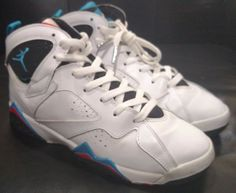 new concept 8d9fe 0ad50 Nike Air Jordan 7 VII Retro Orion Boys Girls Kids Youth Sneakers Shoes Size  6Y