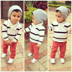 Kids Baby Boys Stripe coat + leisure trousers clothes fit in Clothing, Shoes & Accessories, Baby & Toddler Clothing, Boys' Clothing Little Boy Outfits, Little Boy Fashion, Baby Boy Fashion, Toddler Fashion, Kids Fashion, Fashion Clothes, Spring Fashion, Fashion 2018, Fashion Jewelry