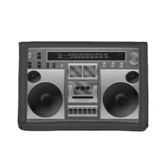 Boombox Radio Graphic Wallet