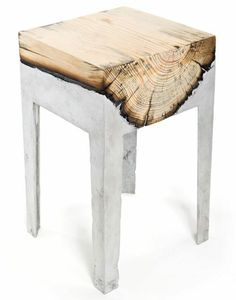 möbel massivholz design klein beistelltisch naturholz