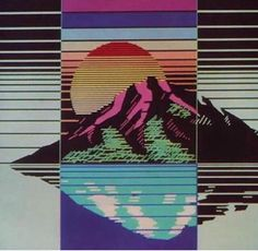 SUNRISE ON GLITCH MOUNTAIN #retro #80s #1980s #90s #eighties #nineties #vintage #nostalgia #nostalgic #vibes #art #feels #retrowave #synthwave #chill #chillwave #vapor #vaporwave #aesthetic #dreamwave #instaart #glitch #neon #chrome #seapunk...