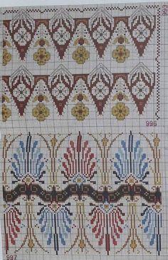 Greek Design, Fabric Origami, Loom Beading, Knitting Needles, Pin Cushions, Needlepoint, Cross Stitch Patterns, Art Nouveau, Bohemian Rug